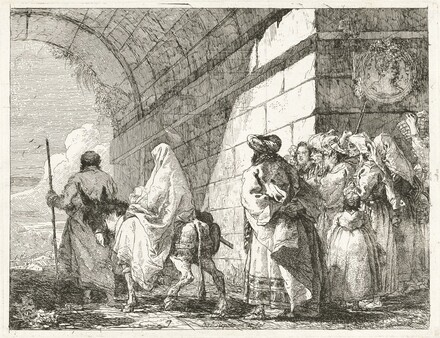 The Holy Family Passes under a City Arch
