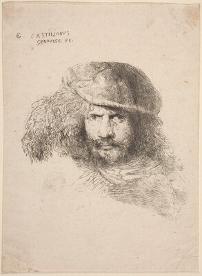 Head of a Young Man in a Feathered Hat (so-called Self-Portrait)