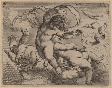 Three Flying Putti