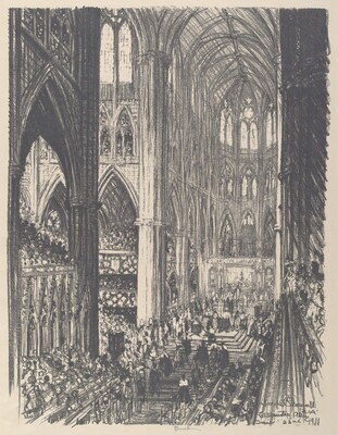 Coronation of King George V and Queen Mary in Westminster Abbey