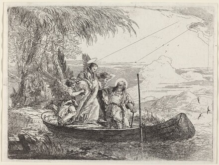 The Madonna, Child, and Angels Entering the Boat