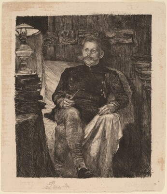 Franz Rose in His Study