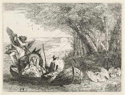 The Holy Family Being Ferried Across the River