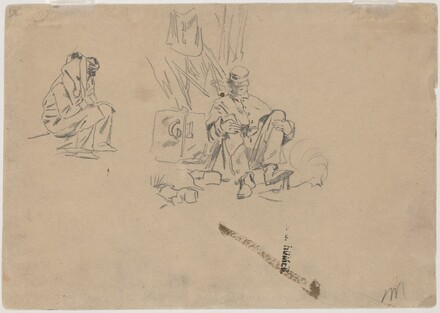 Two Soldiers Resting [verso]