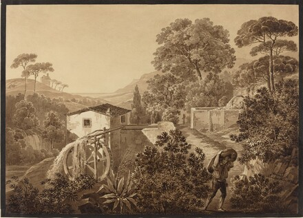 Italian Landscape with a Watermill