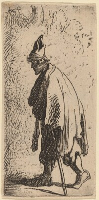 Beggar with a Stick, Walking to the Left