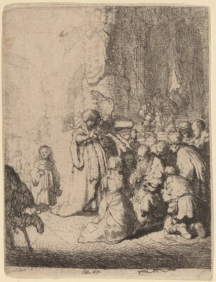 The Presentation in the Temple with the Angel: Small Plate
