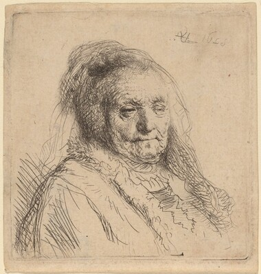 The Artist's Mother, Head and Bust