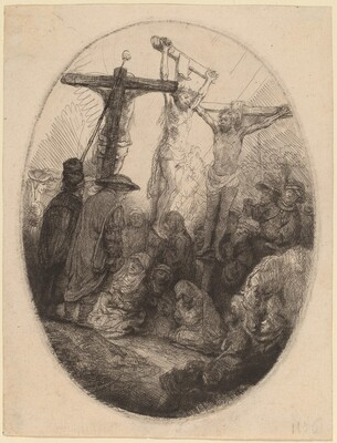 Christ Crucified between the Two Thieves: an Oval Plate