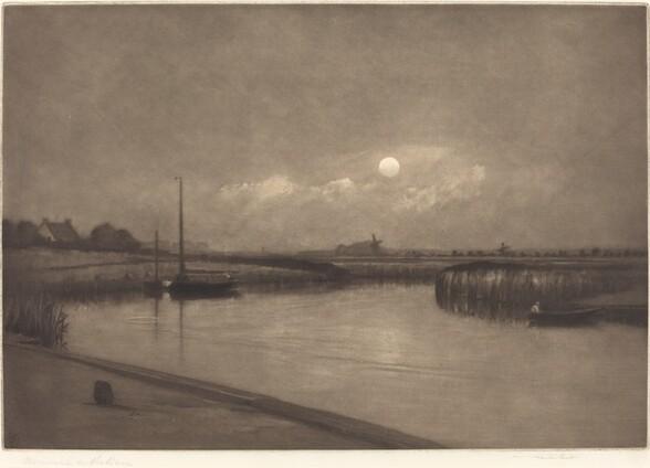 Moonrise on the Bure