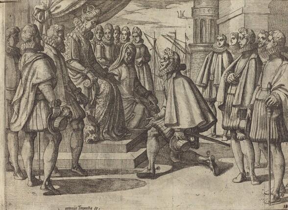 Spanish Duke Before Margaret of Austria [verso]