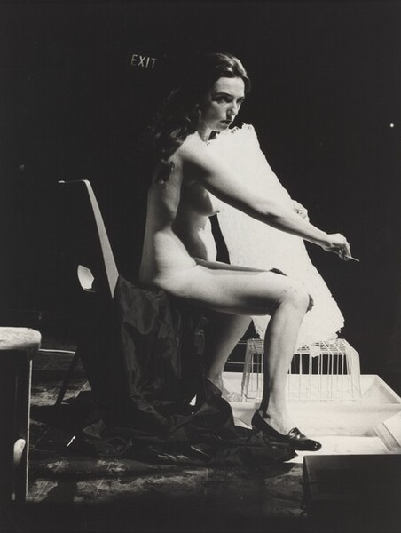 Untitled (Charlotte Moorman performing Ice Music, Roundhouse Theatre, London, August, 1972)