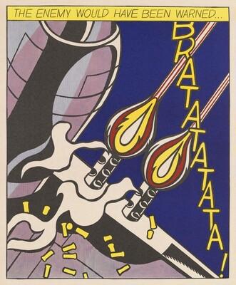 Roy Lichtenstein, As I Opened Fire [center panel], 1966