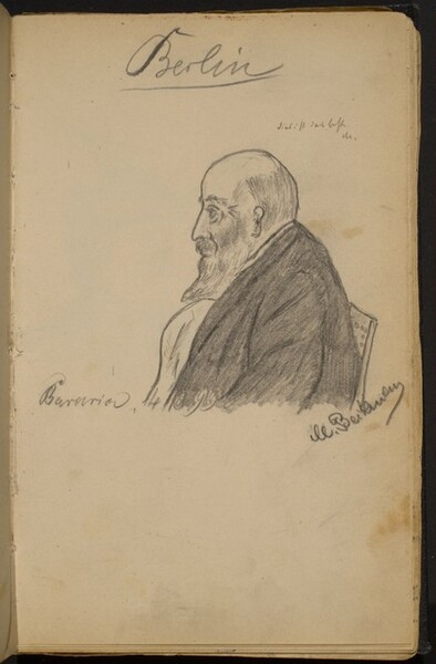 Bearded Man in Profile to the Left