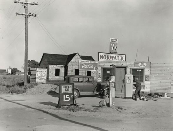 Blackwood Service Station, San Joaquin Valley, Riverbank, California