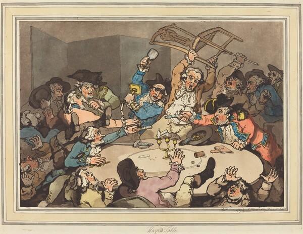 A Kick-up at a Hazard Table