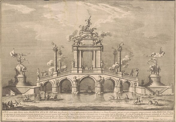 The Prima Macchina for the Chinea of 1755: A Triumphal Bridge with Antiquities from Herculaneum