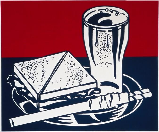 <p>Roy Lichtenstein, Ives-Sillman, Wadsworth Atheneum Museum of Art, Sandwich and Soda, 1964