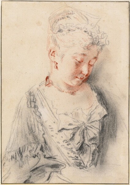 Seated Woman Looking Down