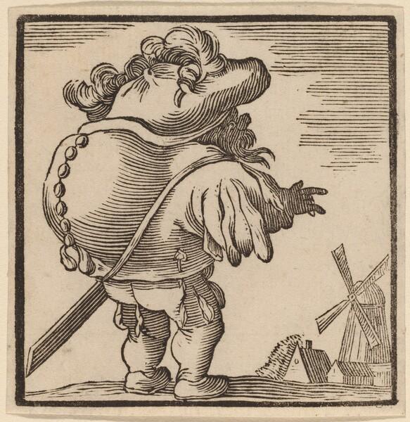 Hunchback Gazing at a Windmill