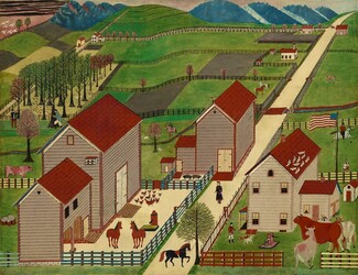 American 19th Century, Mahantango Valley Farm, late 19th centurylate 19th century