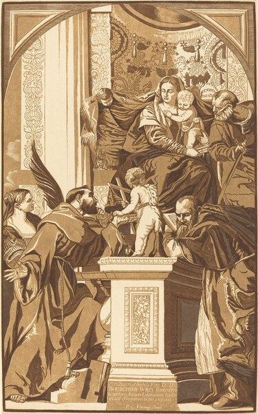 Holy Family and Four Saints