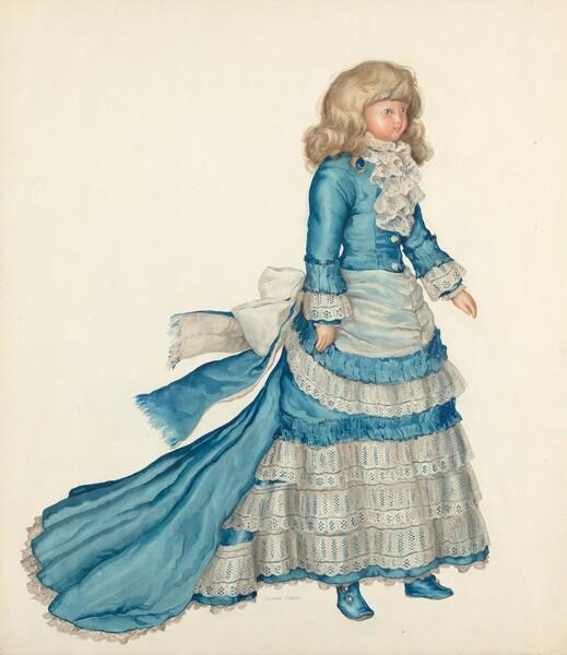 Doll in Blue Dress