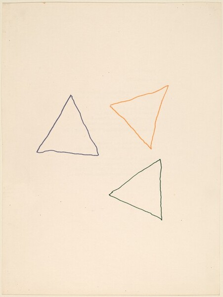 Three Triangles and Three Colors