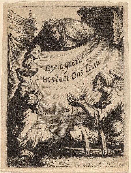 Title Page: Two Cripples Receiving Alms
