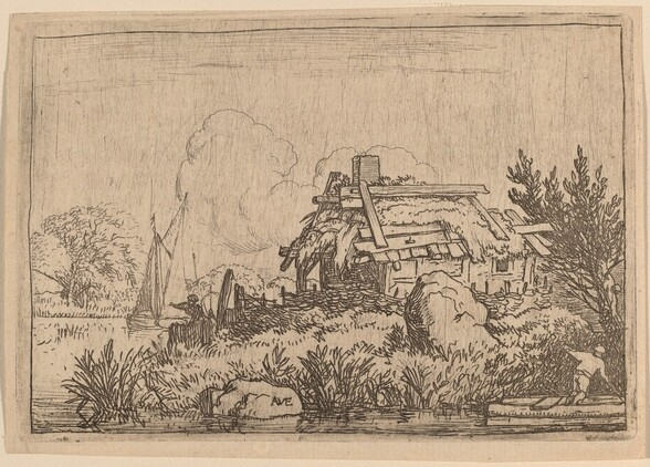 Ruined Cottage, Surrounded by Water