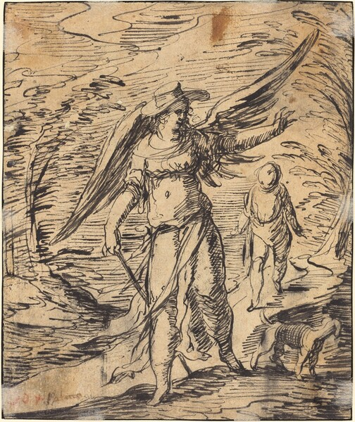 Tobias and the Angel [verso]