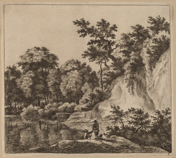 Landscape with River and Rock