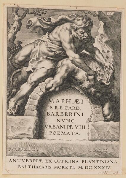 Title Page for Maffeo Barbarini, Poemata