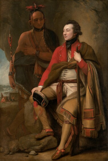 Benjamin West, Colonel Guy Johnson and Karonghyontye (Captain David Hill), 1776