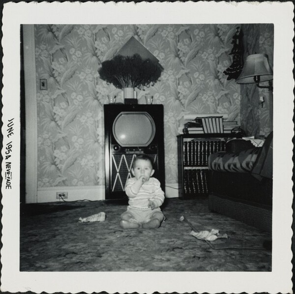 Untitled (Baby in front of television)