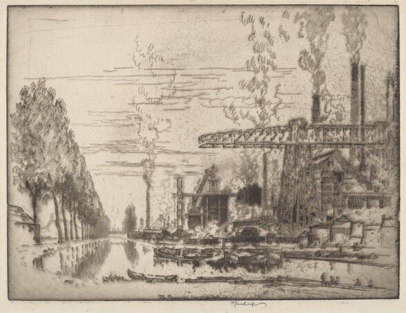 The Brussels Canal, A Modern Hobbema