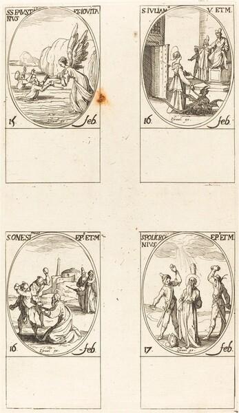 Sts. Faustinus and Jovita; St. Juliana; St. Onesimus; St. Policronius