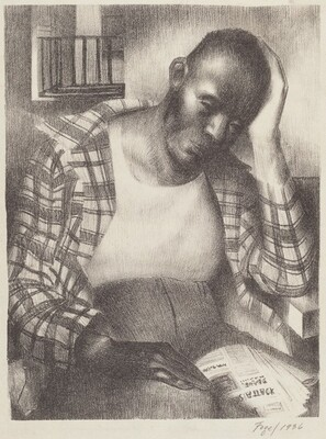 Seymour Fogel, Untitled (Pensive Black Man), 19361936