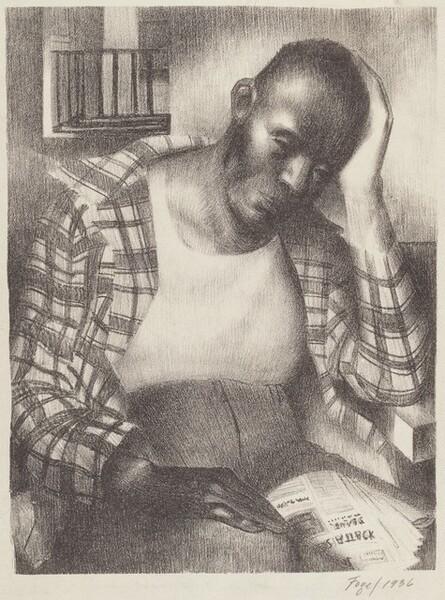 Untitled (Pensive Black Man)