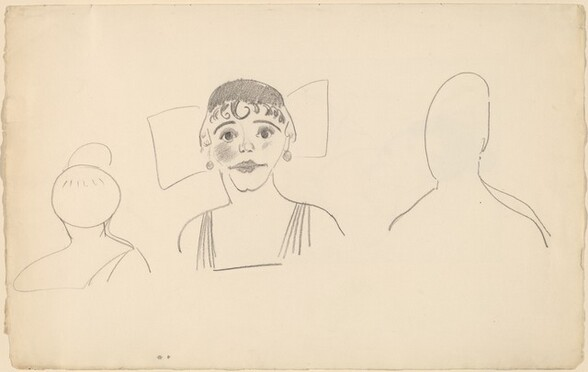 Sketches of Three Female Heads [recto]