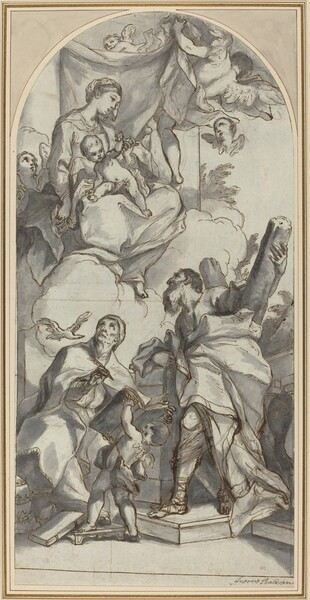 The Madonna and Child in Glory with Saints Gregory the Great and Andrew
