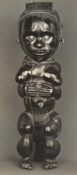 Figure of a Woman with Hands across Abdomen, Pahouin, Okak