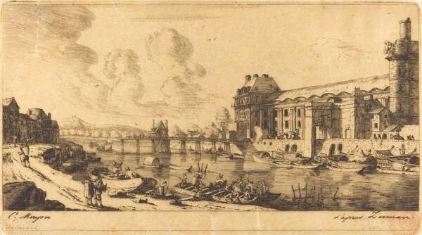 Le Pavillion de Mlle. et une partie du Louvre