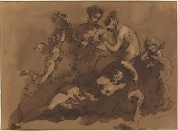 A Mythological Scene with Sea Gods