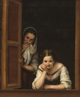 Bartolomé Esteban Murillo, Two Women at a Window, c. 1655/1660c. 1655/1660