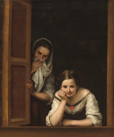Bartolomé Esteban Murillo, Two Women at a Window, c. 1655/1660