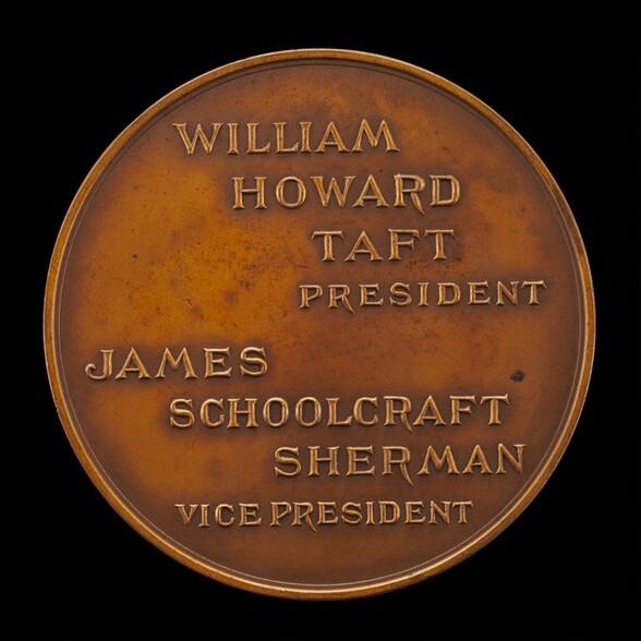 William Howard Taft Inaugural Medal [reverse]