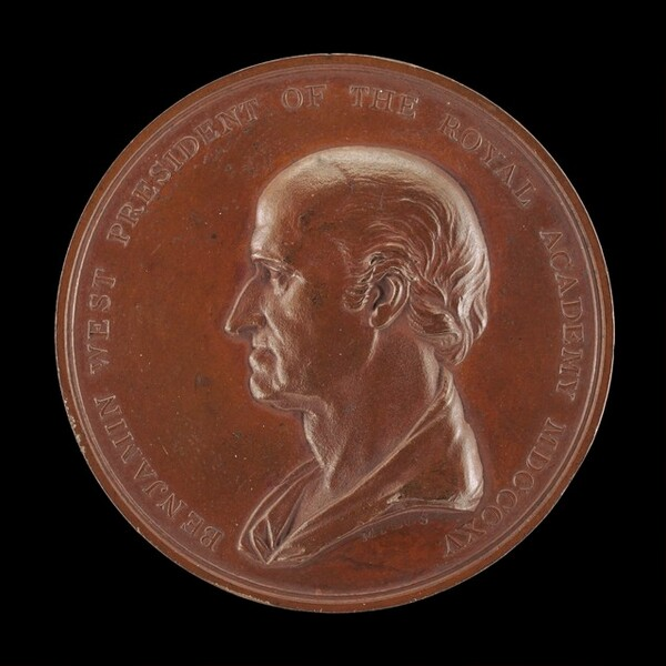 Benjamin West Medal Commemorating Those Who Subscribed to Purchase the Painting Christ Healing the Sick in the Temple [obverse]