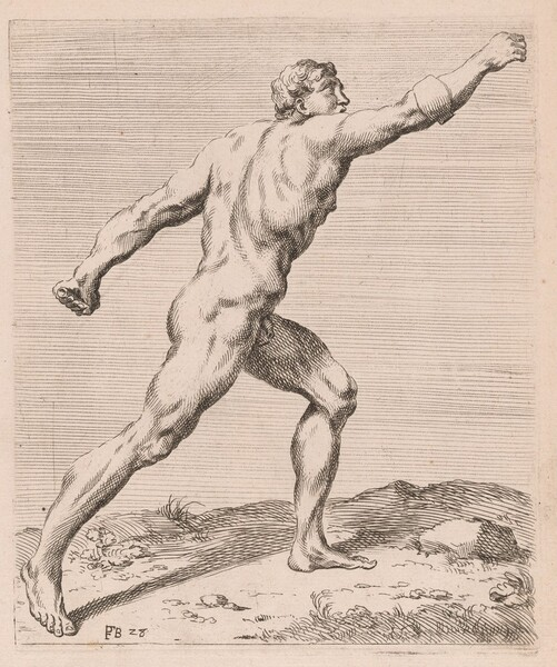 The Borghese Gladiator, side view, turned to right [plate 28]