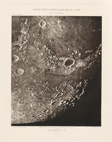 Carte photographique de la lune, planche XVIII (Photographic Chart of the Moon, plate XVIII)